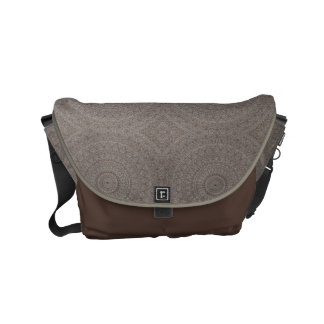 A bolsa mensageiro do design da argila & do Brown