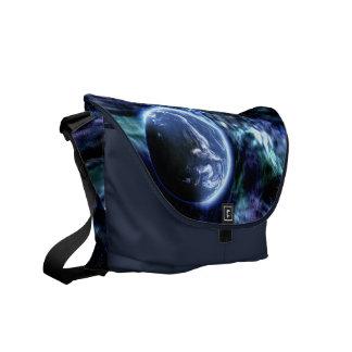 A bolsa mensageiro do espaço da terra da galáxia