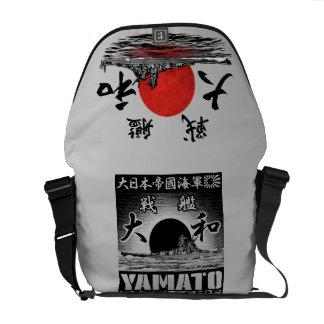 A bolsa mensageiro do rickshaw de Yamato da navio