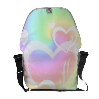 A bolsa mensageiro dos corações do arco-íris
