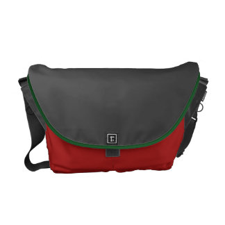 A bolsa mensageiro escura do cinza e do vermelho