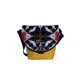 A bolsa mensageiro impressa costume do desenhista