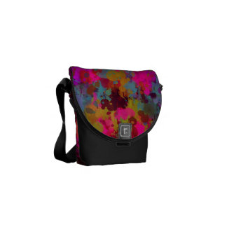 A bolsa mensageiro legal Funky do Splatter da
