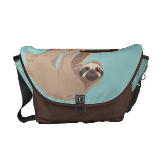 Bolsa Mensageiro A bolsa mensageiro Três-Toed bonito da preguiça