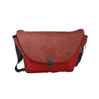 A bolsa mensageiro vermelha do design de HAMbWG
