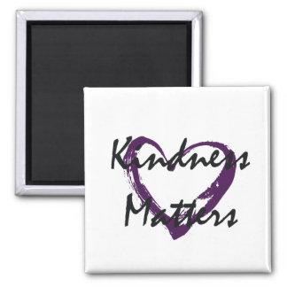 A bondade importa coração ímã quadrado