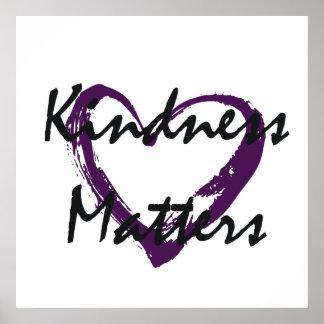 A bondade importa coração poster