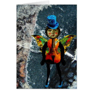 A boneca musical cartão comemorativo