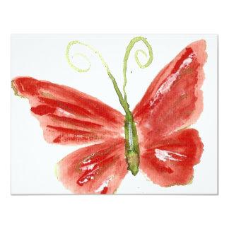 A borboleta alaranjada 3 de Kolleen Convite 10.79 X 13.97cm