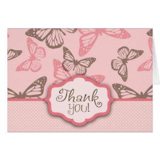 A borboleta beija cartões de agradecimentos