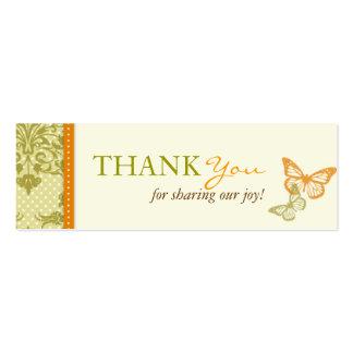 A borboleta beija o cartão magro de encantamento d modelo de cartões de visita