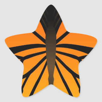 A borboleta beija o design gráfico do anjo floral adesito estrela