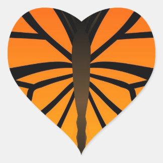 A borboleta beija o design gráfico do anjo floral adesivo de coração