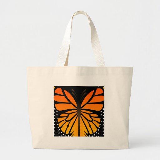 A borboleta beija o design gráfico do anjo floral bolsa de lona