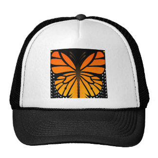 A borboleta beija o design gráfico do anjo floral boné