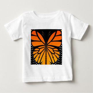 A borboleta beija o design gráfico do anjo floral camiseta para bebê