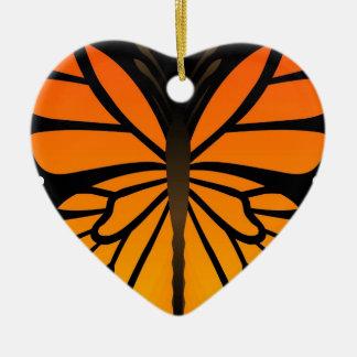 A borboleta beija o design gráfico do anjo floral enfeite de natal