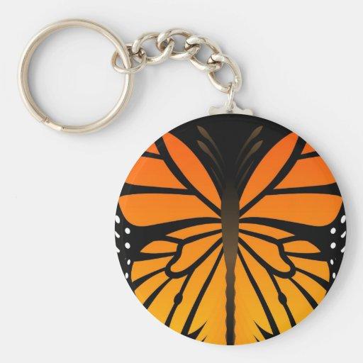 A borboleta beija o design gráfico do anjo floral chaveiro