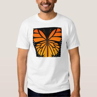 A borboleta beija o design gráfico do anjo floral t-shirts