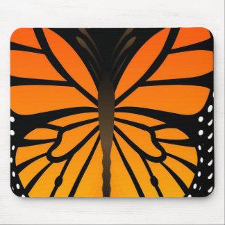 A borboleta beija o design gráfico do anjo floral mousepad