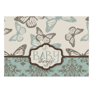 A borboleta beija o lembrete retro Notecard Modelo Cartoes De Visita