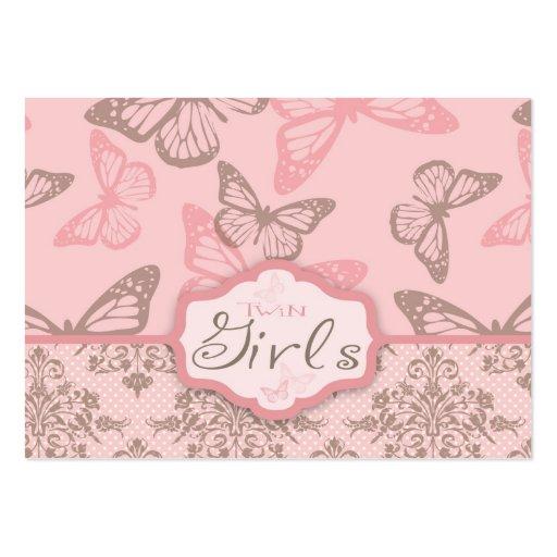 A borboleta beija o Tag do presente da pétala Cartões De Visita