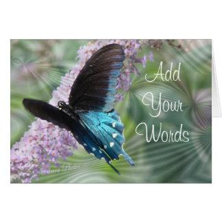 A borboleta Beleza-personaliza Cartão Comemorativo