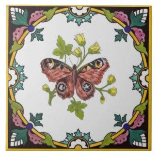 A borboleta de Minton Mão-Coloriu c.1870 o azulejo