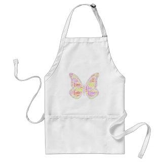A borboleta exprime o avental