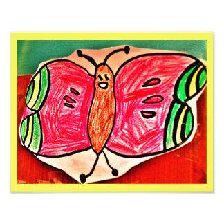A borboleta feliz de Nurah Foto