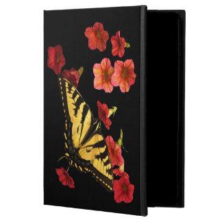 A borboleta no vermelho floresce a caixa do ar 2