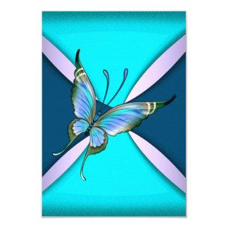 A borboleta roxa RSVP da cerceta salvar a data Convite 8.89 X 12.7cm