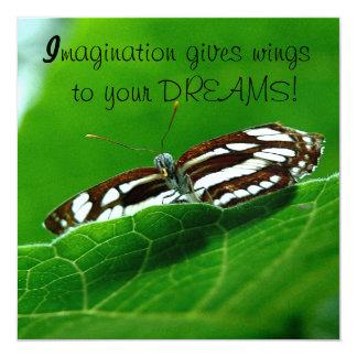 A borboleta sonha o envelope convite personalizado