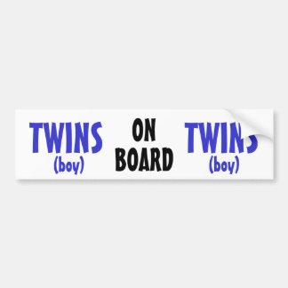 A bordo - dos gêmeos do menino adesivo para carro
