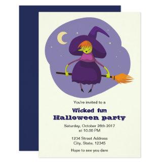 A bruxa bonito caçoa o convite de festas do Dia
