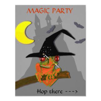 A bruxa do comedor de rãs molda um período convite 10.79 x 13.97cm