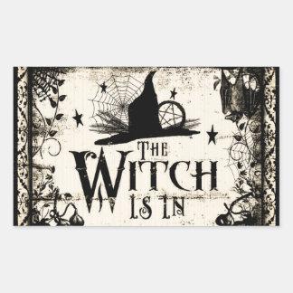 A bruxa está dentro!  Etiquetas