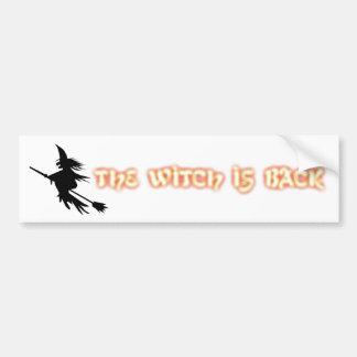 A bruxa está para trás autocolante no vidro trasei adesivo