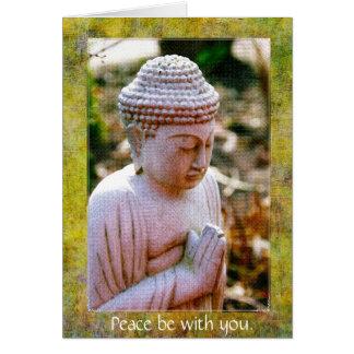 A Buddha-Paz Praying seja com você. Cartão
