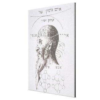 A cabeça de Adam Kadmon, cópia de uma ilustração f Impressão De Canvas Esticadas