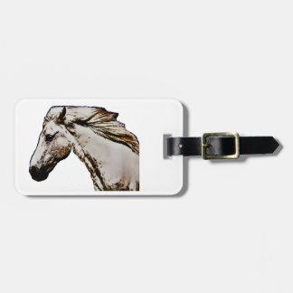 A cabeça de cavalo etiqueta de bagagem