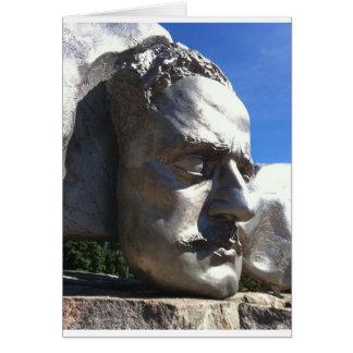 A cabeça de Sibelius Cartão Comemorativo