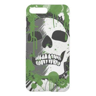 a cabeça do crânio com verde mancha grafites da capa iPhone 7 plus