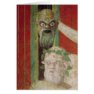 A cabeça do Silenus idoso Cartão Comemorativo