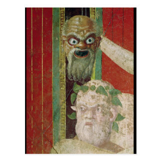 A cabeça do Silenus idoso Cartão Postal
