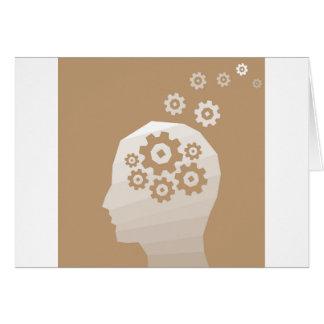 A cabeça pensa cartão comemorativo