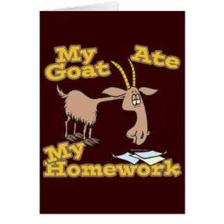 a cabra comeu meus desenhos animados engraçados do cartao