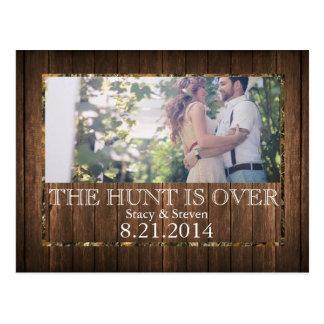 A caça acaba-se economias o cartão do casamento da