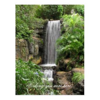 A cachoeira, desejando o estava aqui… cartão postal