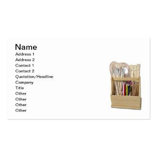 A caixa da arte escova lápis modelos cartões de visita